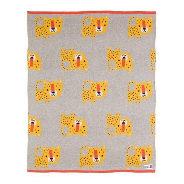 Leopard Strick-Decke (Bizzi Growin)